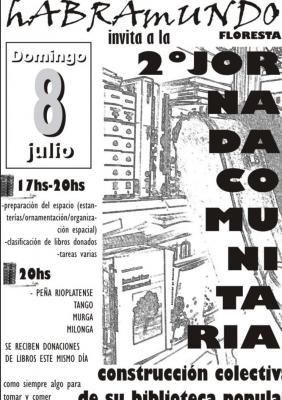 2DA  JORNADA COMUNITARIA BIBLIOTECA POPULAR