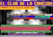 """ESTE SABADO 11/8- 22HS  """"CLUB DE LA CANCION"""" + NOS QUEDAMOS DANZANDO"""