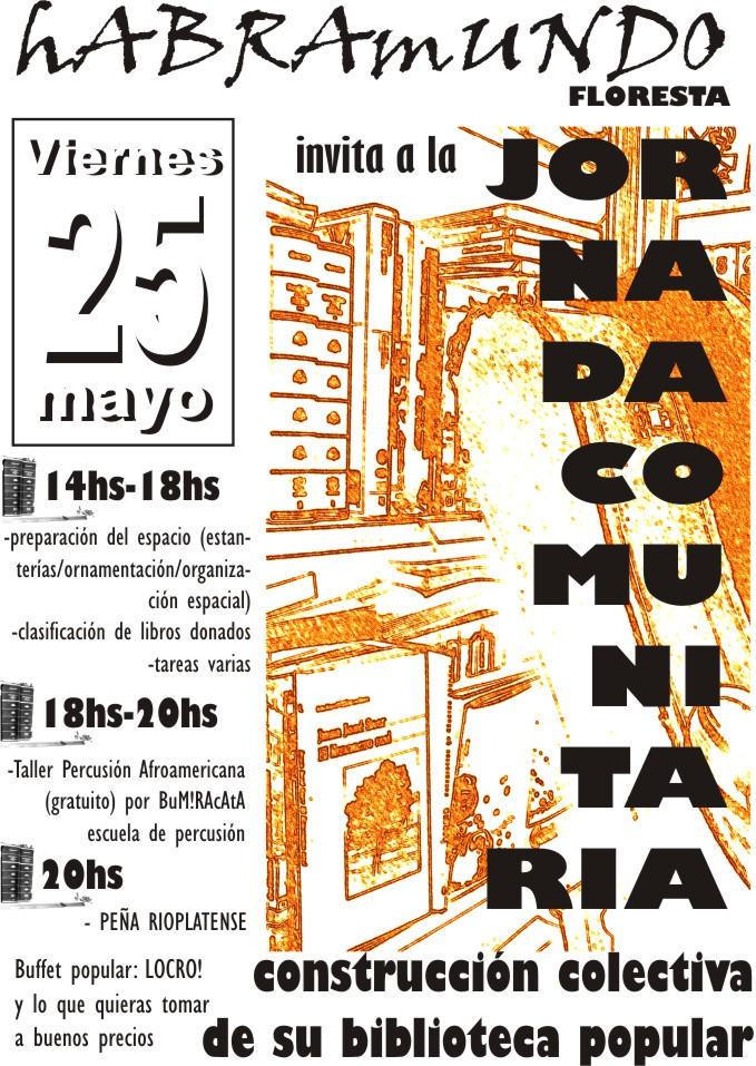 JORNADA COMUNITARIA/BIBLIOTECA POPULAR (25/5)