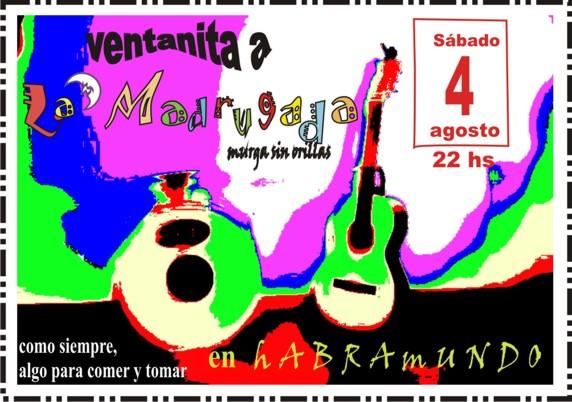 VENTANITA A LA MADRUGADA - sábado 4 de agosto, 22hs-